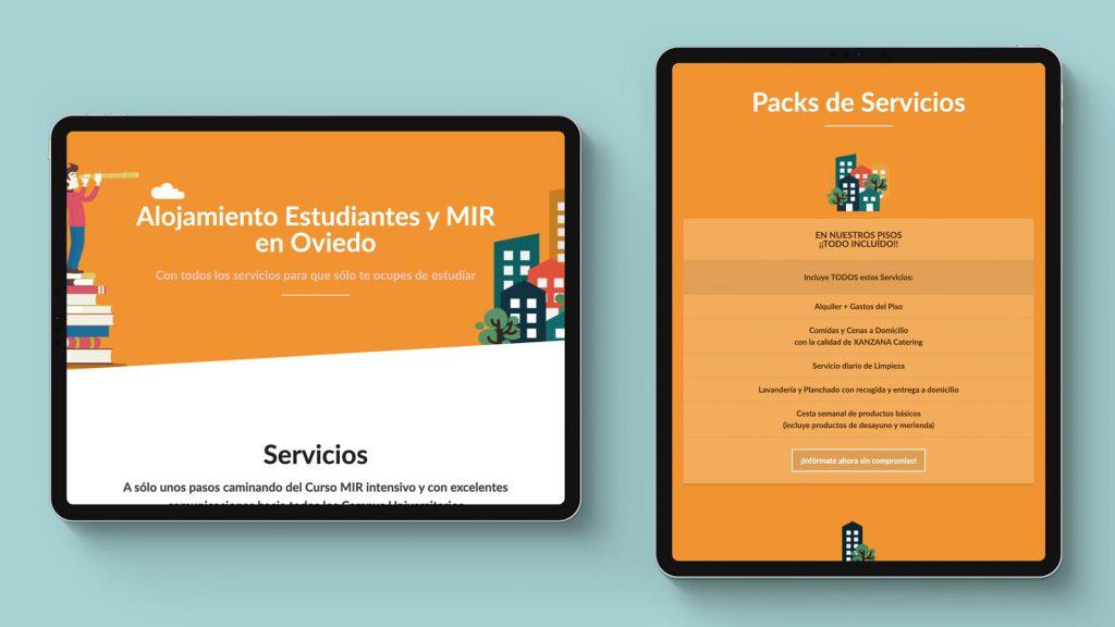 diseño web alojamientos asturias