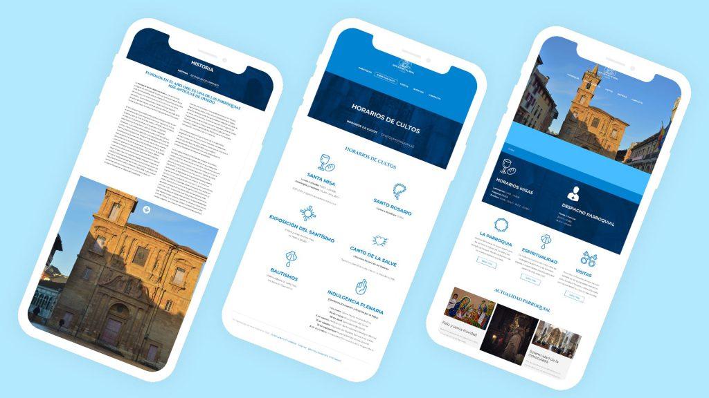 diseño web para parroquias, monasterios y centros de culto o religiosos